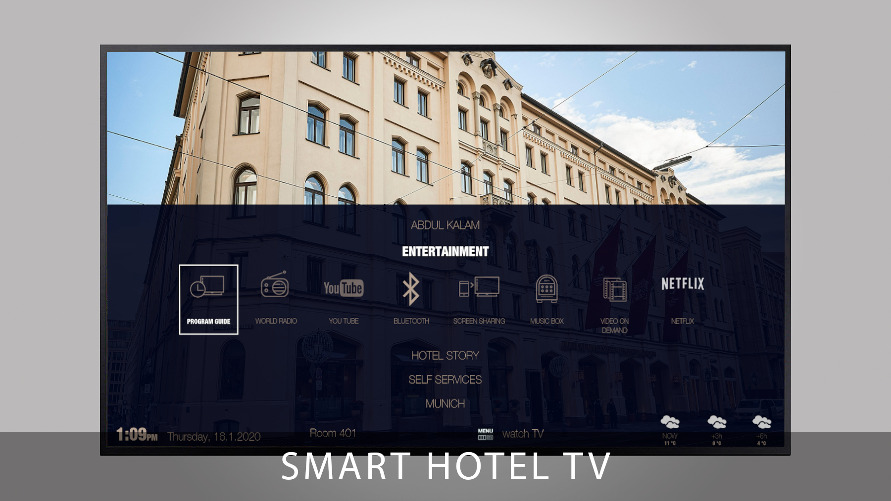Onlinedemo - Smart Hotel TV Apps