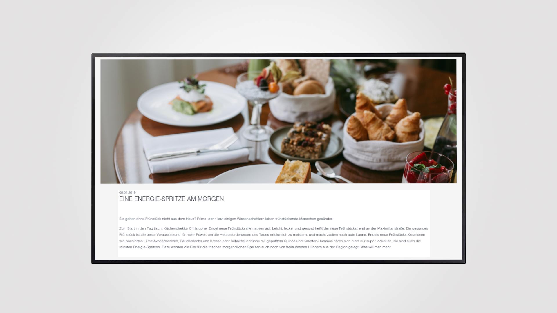 Online Konsummöglichkeiten für den Hotelgast