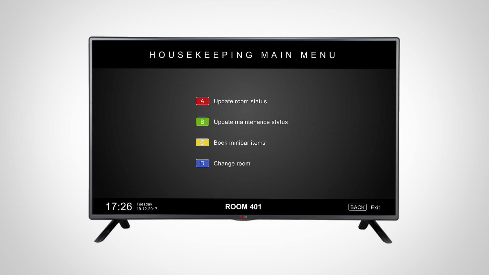 Gäste können Ihre Daten über den TV einsehen und kontrollieren