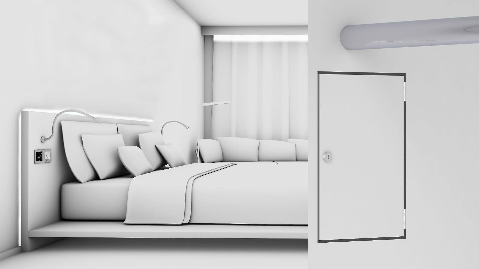 Systemkonfiguration der Hotelzimmer