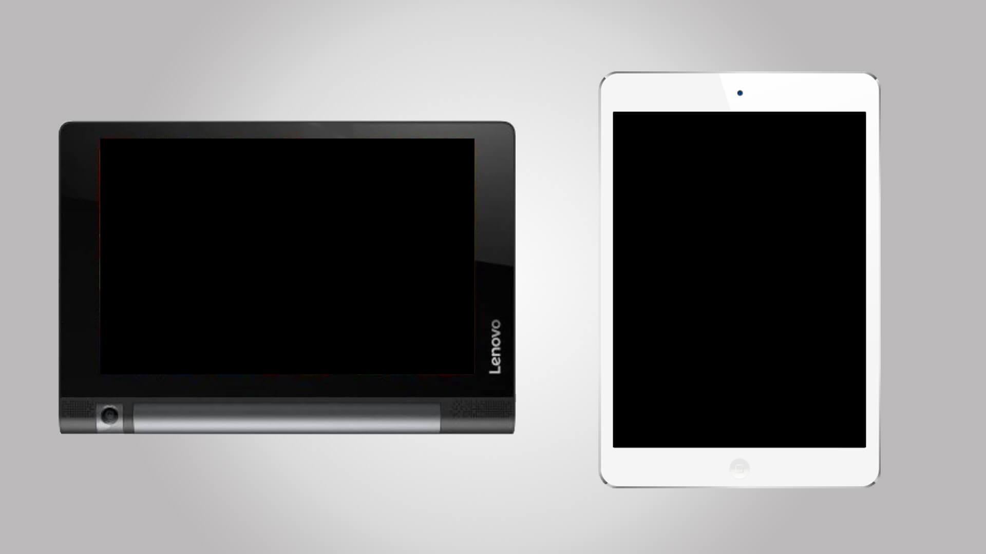 Einsatz von Tablets verschiedener Marken