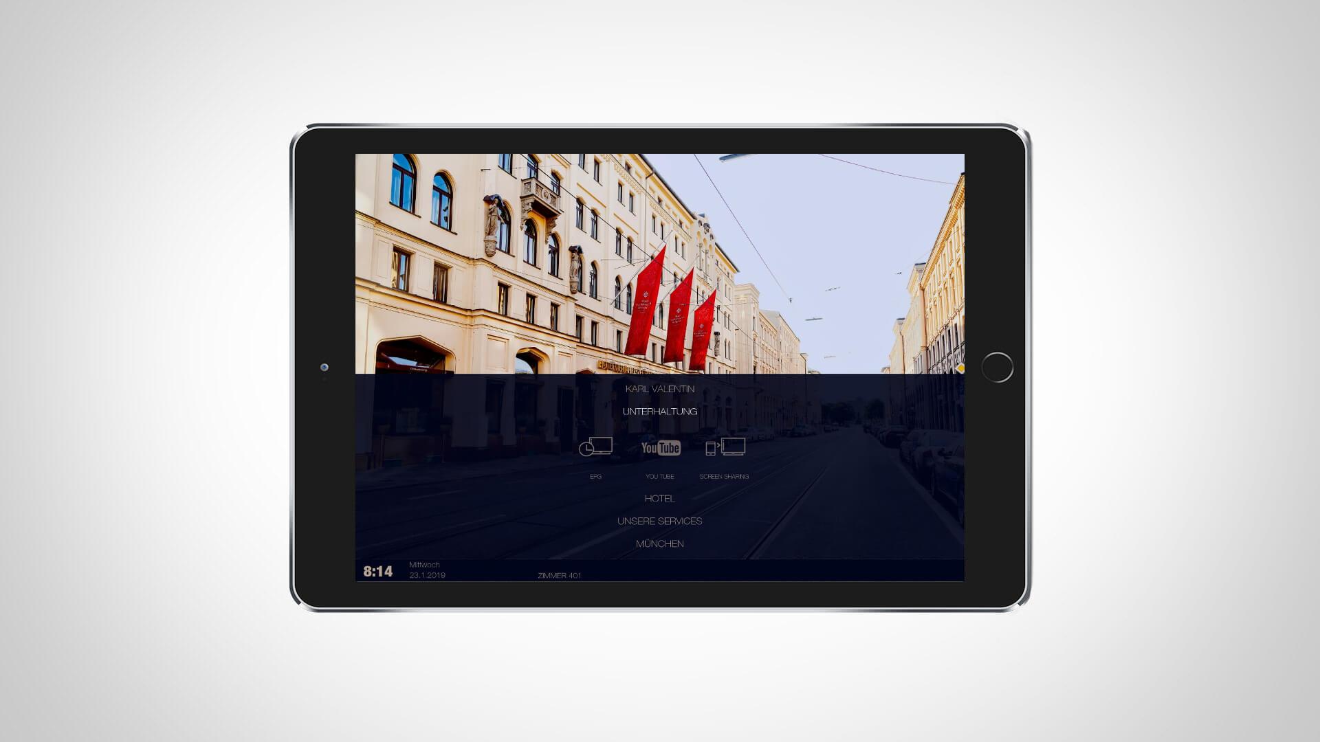 Hospitality Apps auf dem Tablet
