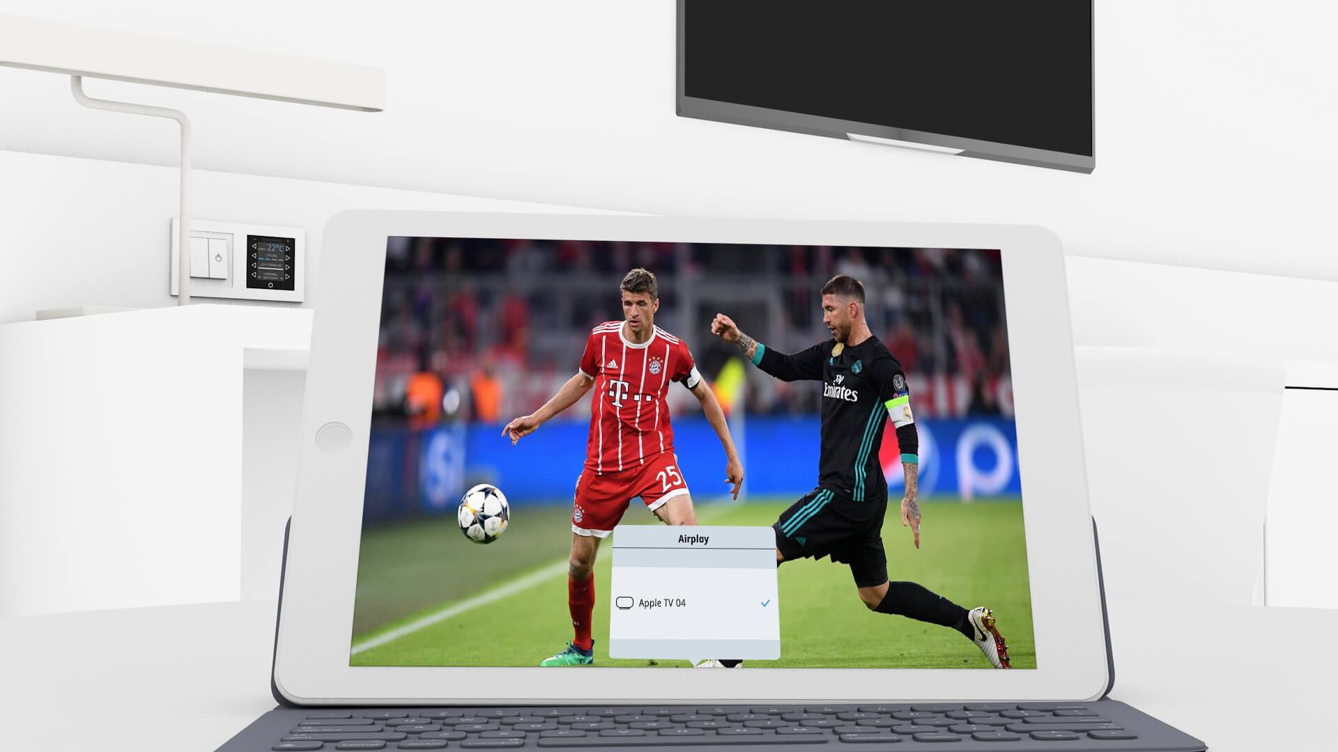 Streaming auf dem iPad initiieren